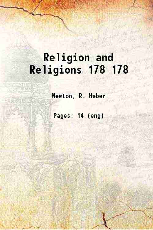 Religion and Religions 178 178