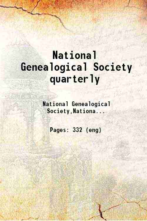 National Genealogical Society quarterly