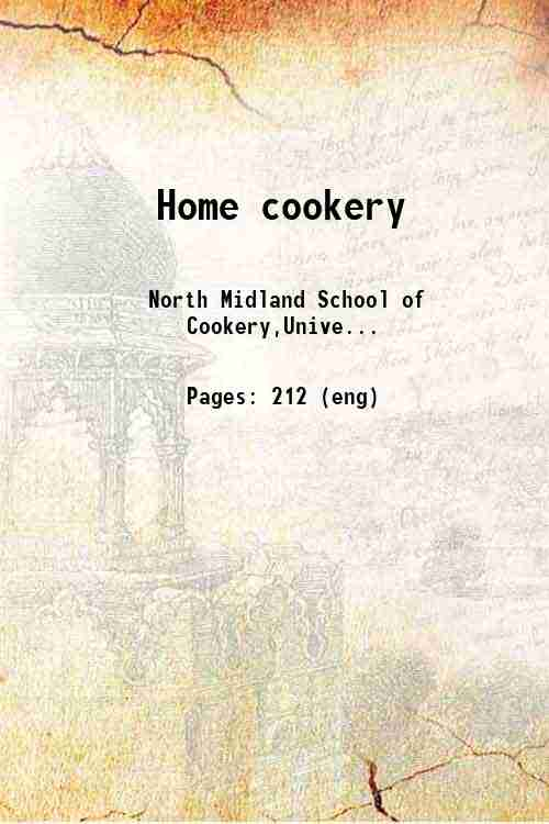 Home cookery