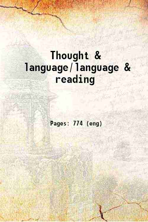 Thought & language/language & reading